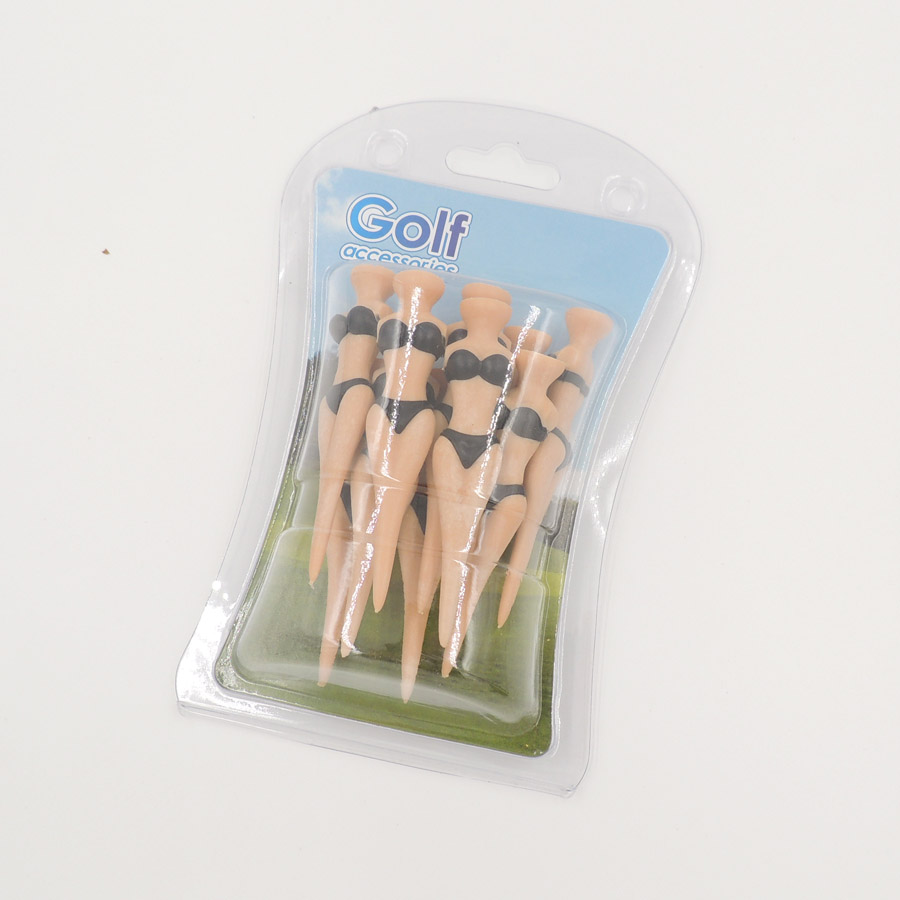 10PCS Exquisite Durable Plastic Sexy Girl Bikini Girl Golf Model Tee  Woman Model Golf Tees