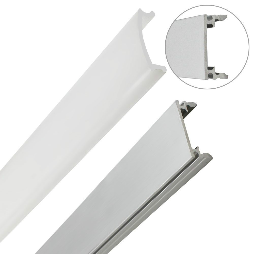 10pcs 1M Aluminum channel case for LED strip bar installation Aluminum Profile with Cover End Caps Mounting Clips dropshipping