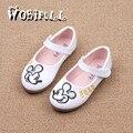 2017 spring girl Leather shoes cartoon princess single shoes fashion sequins children's shoes babyshoes children's sandals 21-30