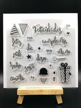 Spanish WORDS 1 Transparent Clear Silicone Stamp/Seal for DIY scrapbooking/photo album Decorative clear stamp sheets A579