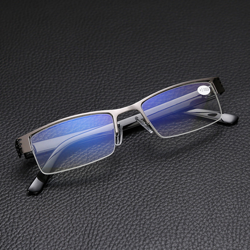 Men's Reading Glasses Men's Glasses Full Metal Frame Resin Lenses Comfy Light Glasses For Men Women Reading Glasses 1.0 1.5 2.0 2.5 3.0 3.5 4.0