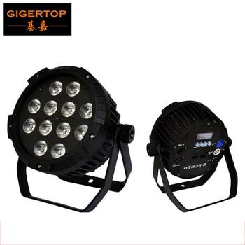 TIPTOP TP-P52 DMX RGBAW UV 12x18 Вт Par Led Light 6/10 каналов A001/D001 для дискотеки, бара, ночного клуба, свадьбы и т. Д.