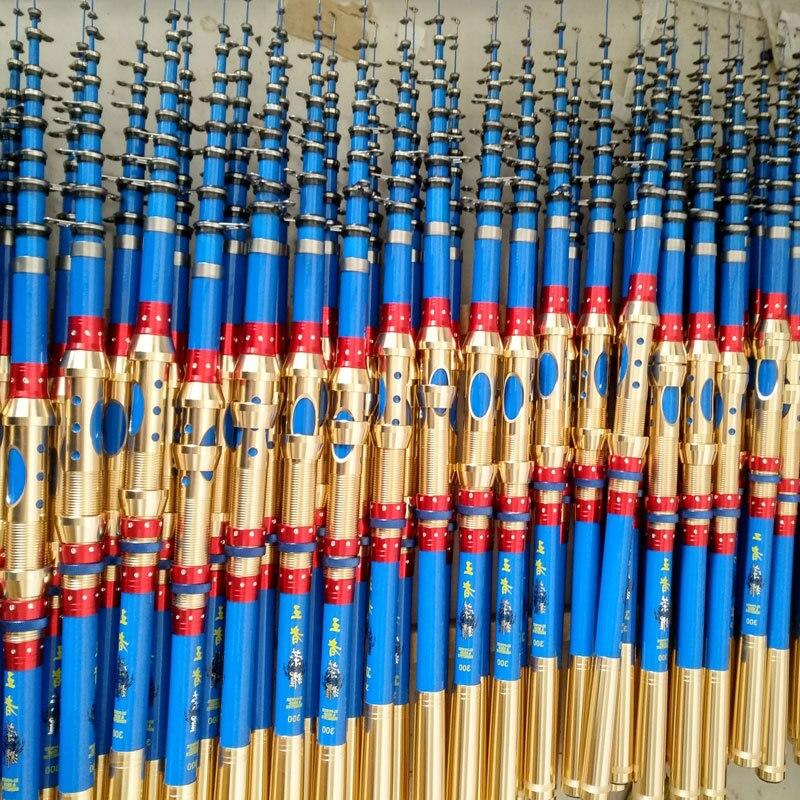 1.8 M 2.1 M 2.4 M 2.7 M 3.0 M 3.6 M 4.5 M canne à pêche télescopique Portable canne à pêche en Fiber de verre pôle de pêche voyage pêche en mer canne à filature