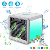 Dropshipping Portable Air Conditioner Mini USB Conditioning Humidifier Purifier Desktop Air Cooler Cooling Fan For Home Office