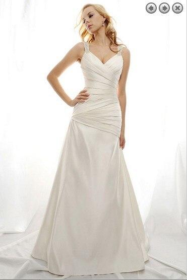 Livraison gratuite 2016 femme chaude robe designer nouvelle mode blanc longue princesse plus size brides robes de mariée partie Robes de mariée