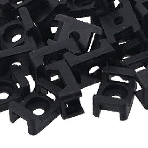 ММЦ горячий черный 9 мм кабель стяжки седло тип пластик провода держатель комплект