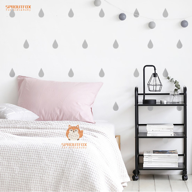 DIY Little Raindrop Wall Decal Stickers Baby Nursery Bedroom Removable  Vinyl Wallpaper Kids Children Home Decor