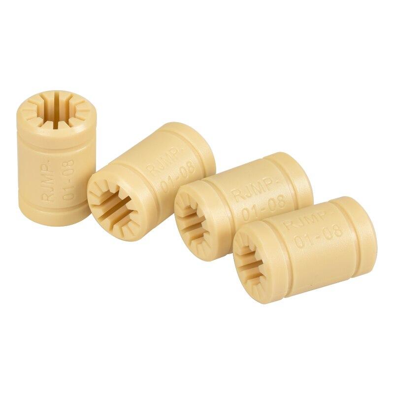 4/10 unids RJMP-01-08 de Polímero Sólido LM8UU lineal 8mm eje de plástico CNC casquillo Reprap Prusa Medel para 3D piezas de la impresora
