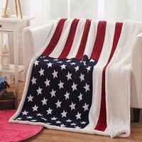 อเมริกันธงแบบโยนผ้าห่ม130*160