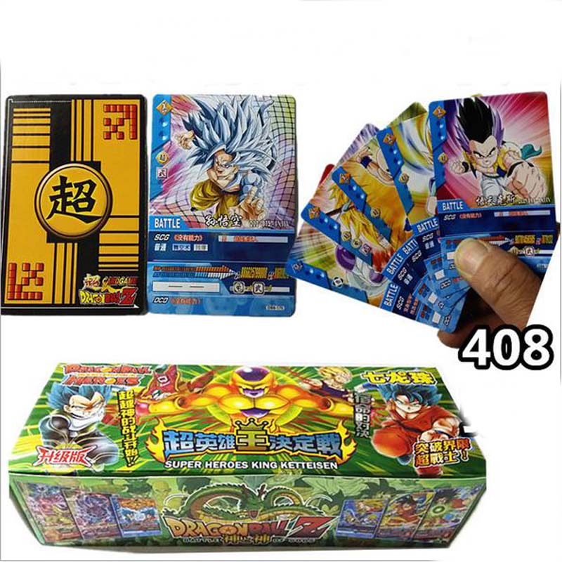 408pcs Dragon Ball Heroes Paper Card Anime Cartas Dragon Ball Game Collection Cards Kids Boys Toys Gift