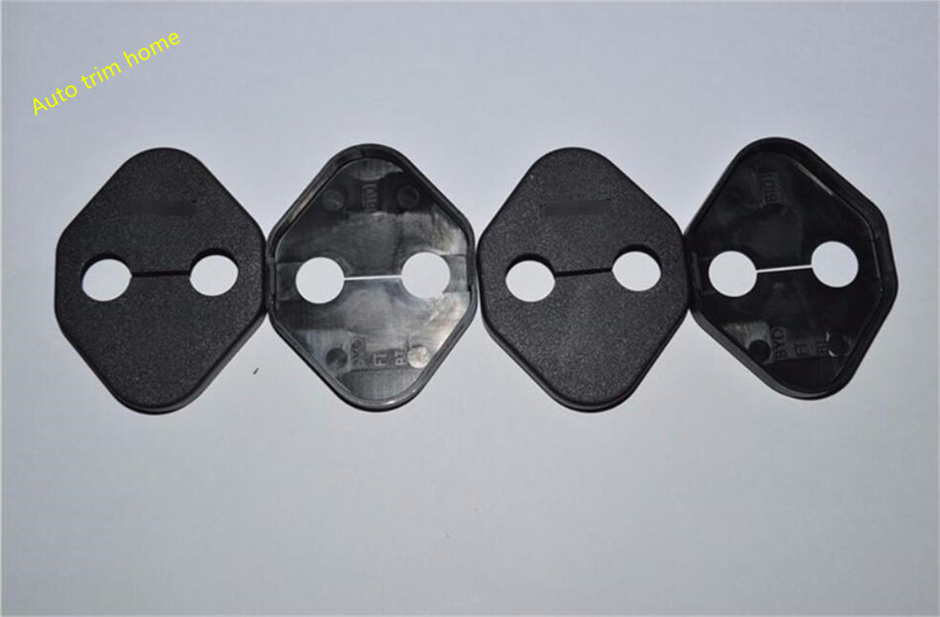 For Honda Civic 2014 - 2018 Plastic Door Lock Protector Cover Buckle Decoration Molding Garnish Trim 4 Pcs / Set