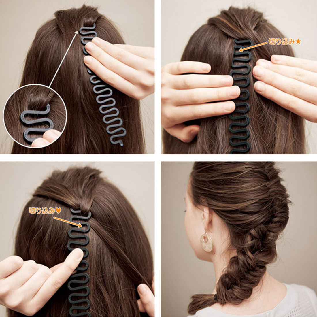 Barber Accessories Braided Artifact Lazy Hair Tools Hairpin Accessories Salon Accessories