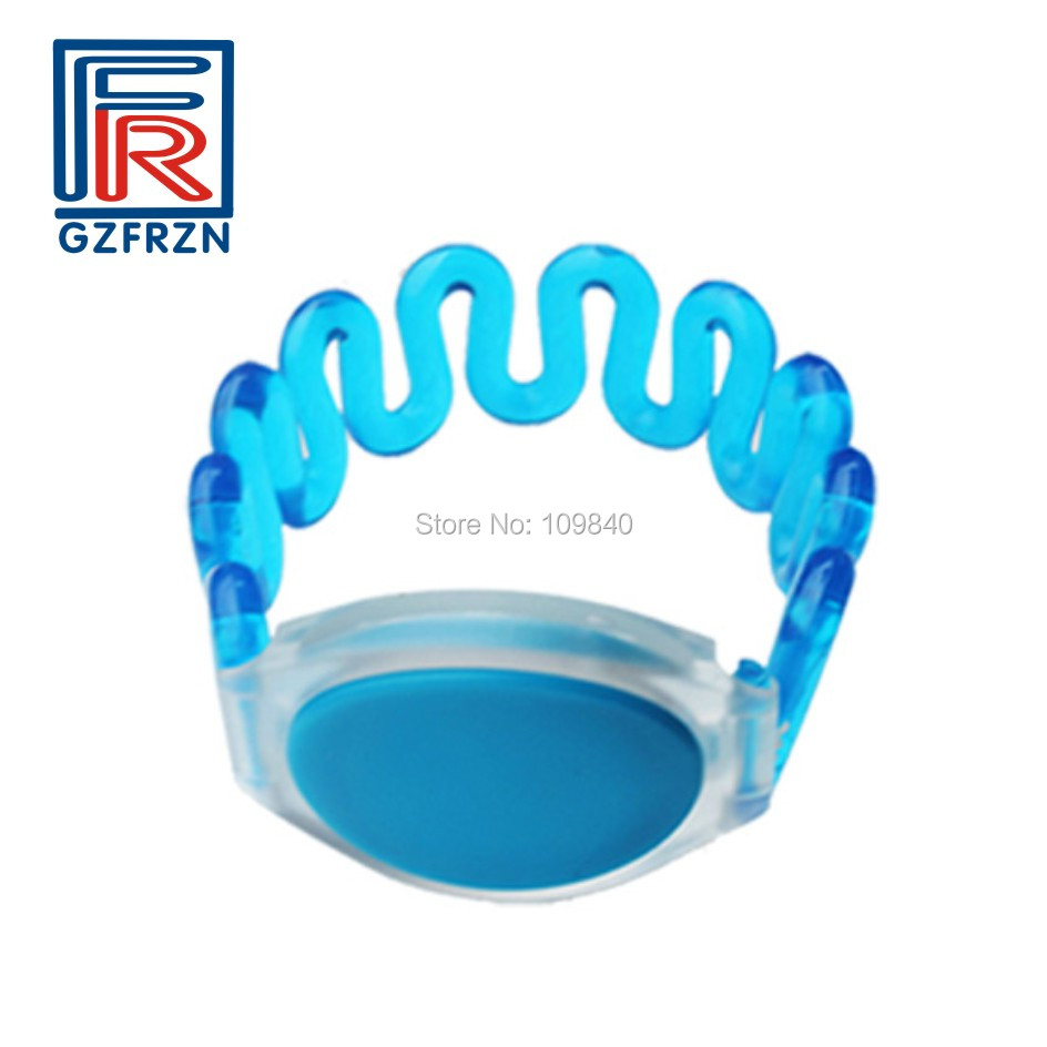 1pcs 13.56mhz Plastic RFID wristband bracelet sample Waterproof color options for Sauna Spa Resort hotel