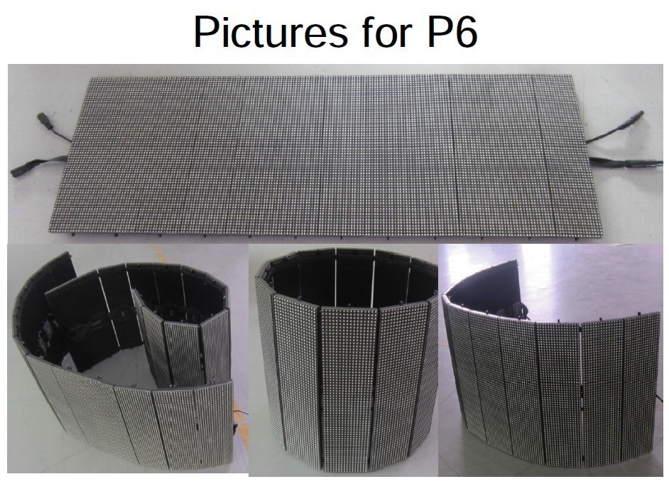 Indoor P6 flexible curtain