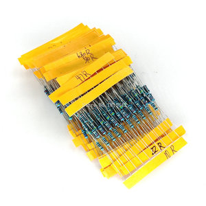 1 Pack 300Pcs 10 -1M Ohm 1/4w Resistance 1% Metal Film Resistor Resistance Assortment Kit Set 30 Kinds Each 10PCS(China)