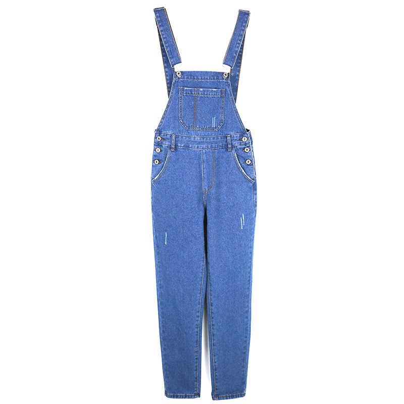 9161432bbc76 ... S-XL korean Jeans Women Jumpsuit Denim Romper Overalls Casual Long  Trousers womens Basic Denim ...
