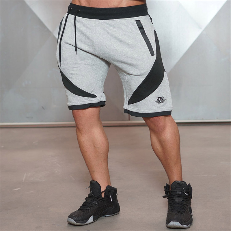 2016 New Quality Muscle Brothers Men s breathable and fitness shorts workout cotton skinny Professional