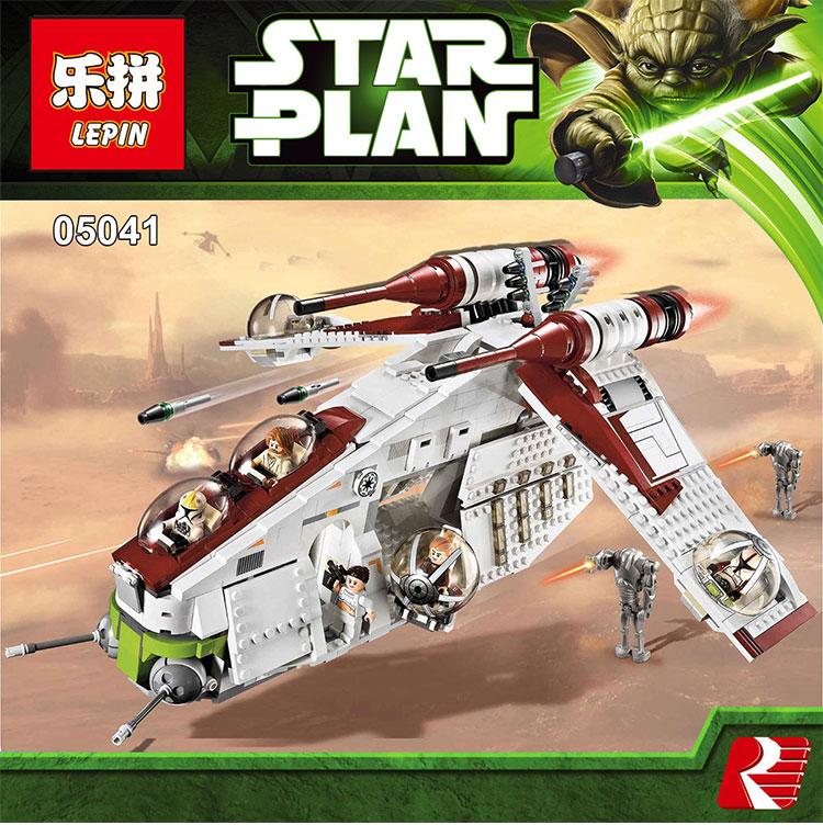 ФОТО Lepin 05041 Star War  Rogue One Series The The Republic Gunship Set Figures Educational Building Blocks Bricks Toys 75021