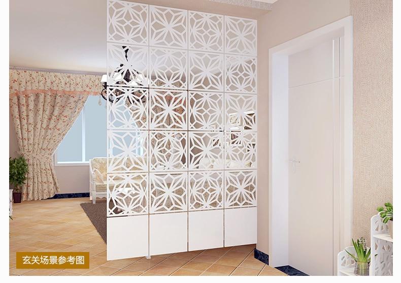 Современный простой гостиной висит складной экран Пустотелый белый столовая раздела вход занавес biombo