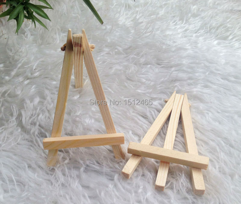 24Pcs/Lot Mini Display Miniature Easel Wedding Table Number Place Name Card Stand 12*7cm