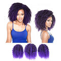 3 Pieces Ombre Colored Braid Hair Extensions Ombre Black And Purple Hair Pieces Black Women Hairstyles Natural Curly Fake Hair