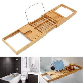 Bad Regal Bambus Badewanne Fach Dusche Caddy Regal Lagerung