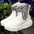 2016 Hombres 5 cm Owen de Cuero Aumento de la Altura Plataforma Botas de Cremallera en la Espalda zapatos Masculinos Colores Mezclados n High Top Negro de Los Hombres Blancos