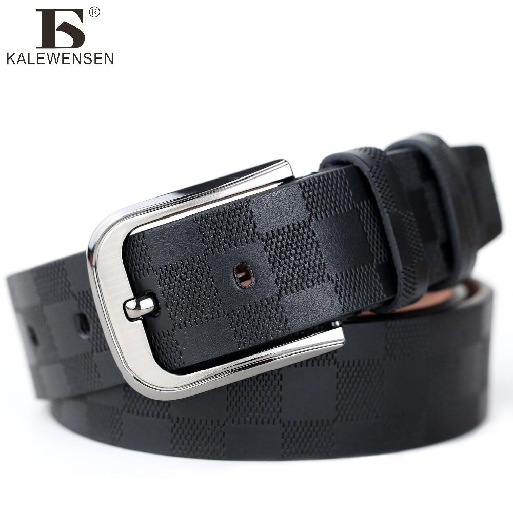 2017 New Business Belt man leather belt for men Brand ceinture Homme Metal buckle Black Coffee men's belt <font><b>tan</b></font> for <font><b>Jeans</b></font> LJ004