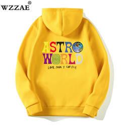 С изображением Трэвиса Скотта ASTROWORLD WISH YOU WERE HERE толстовки Мода Письмо ASTROWORLD Толстовка уличная человек женщина пуловер Толстовка