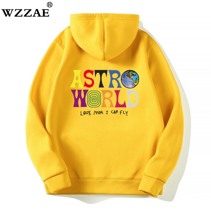 US $10.49 25% OFF|TRAVIS SCOTT ASTROWORLD WISH YOU WERE HERE HOODIES fashion letter ASTROWORLD HOODIE streetwear Man woman Pullover Sweatshirt in