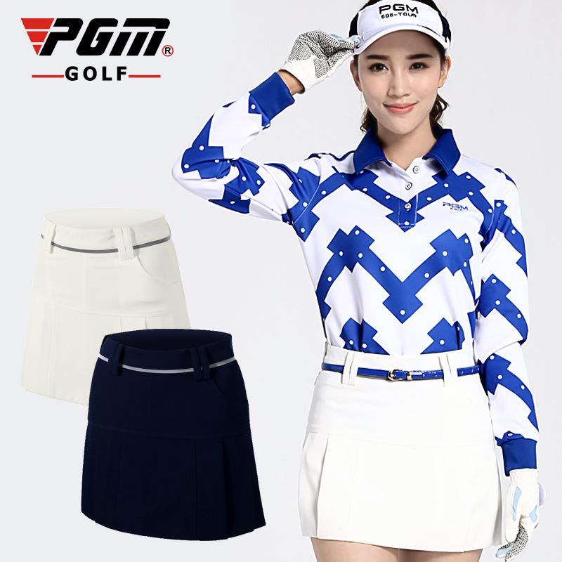 PGM Anti Leakage Ladies Womens Golf Skort Skirt Solid Gift Golf Skirts Shorts summer Breathable Quick dry Golf mini short skirts