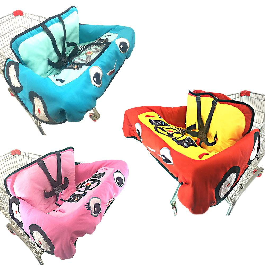 Baby Children Supermarket Shopping Cart Cushion Dining Chair Protection Safety Travel Portable Cushion With Pockets Child Care