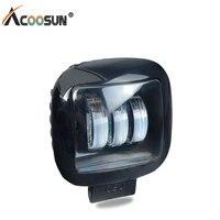 AcooSun LED Motorcycle Work Lamp Square DC 12V 24V 30W Led Car Spot Light Aluminum Combo Beam Car Night Bulb Driving Lighting