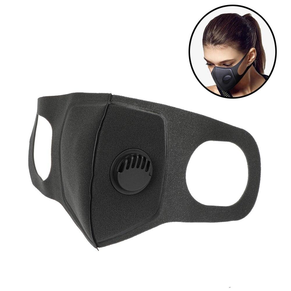 1Pcs Face Mask หน้ากากป้องกันมลพิษ PM2.5 เปิดใช้งานคาร์บอนกรองใส่สามารถล้าง Reusable หน้ากากปาก u2