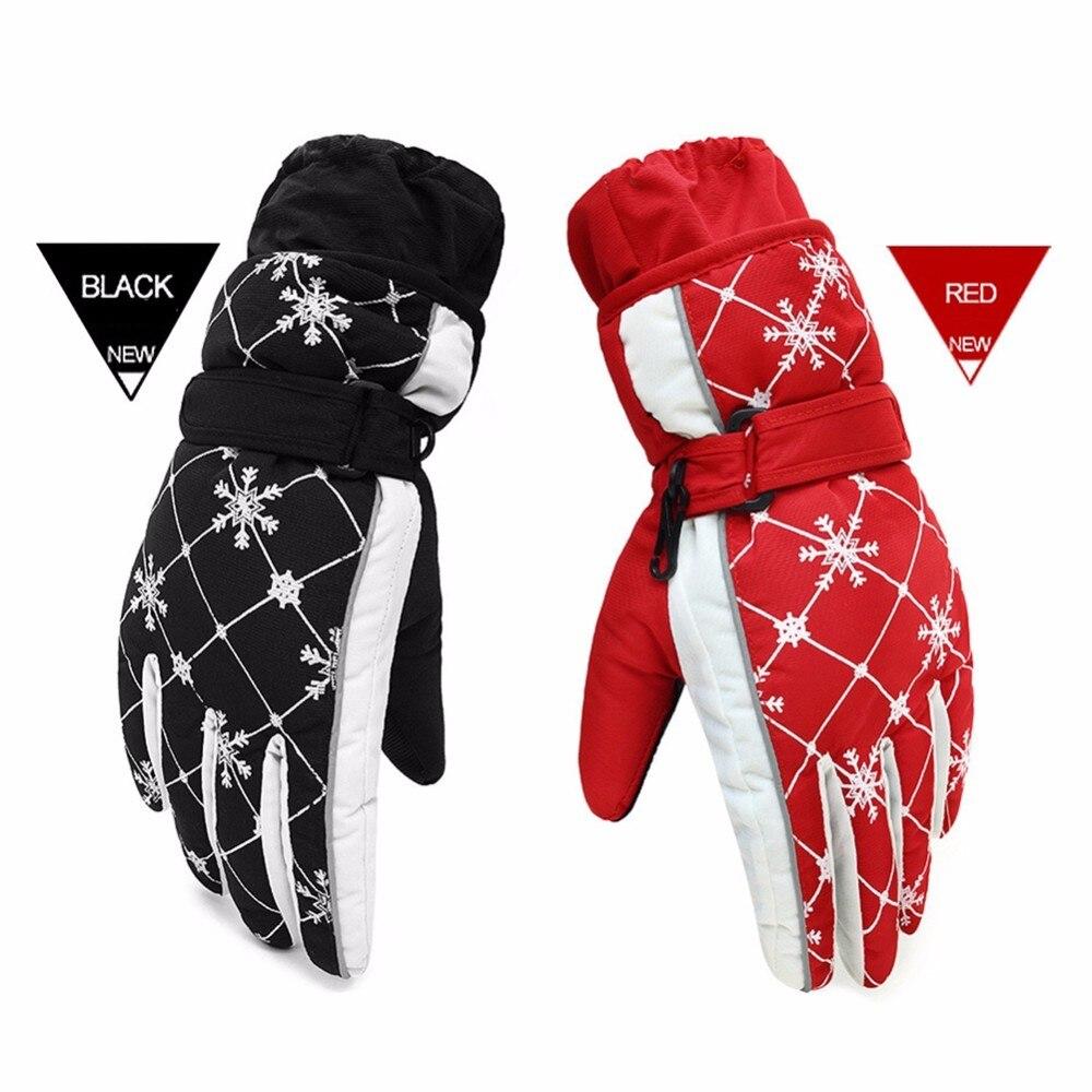 Men Women Winter Warm Windproof Ski Gloves Outdoor Sports Waterproof Snowboard Motorcycle Skiing Gloves Cycling Snow Mittens