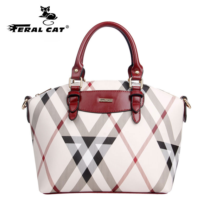 FERAL CAT Female Brand Leather Handbag High Quality Small Bags Lady Shoulder Casual Vintage New Handbags Women bag