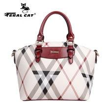 FERAL CAT Female Brand Leather Handbag High Quality Small Bags Lady Shoulder Casual Vintage New Handbags Women bag