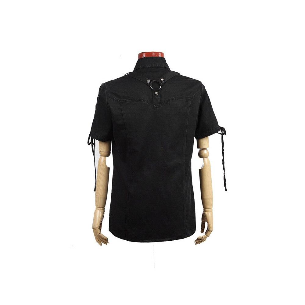 Готическая новая рок повязка черная уличная крутая футболка модная визуальная Kei Heavey металлическая Черная Мужская футболка L 3XL Панк рейв Y 530 - 6