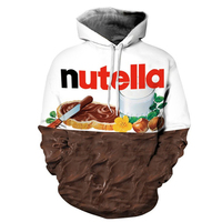 3 D Nutella Pattern Men Women Hoodies Couples Casual Style 3D Print Personality Autumn Winter Sweatshirts