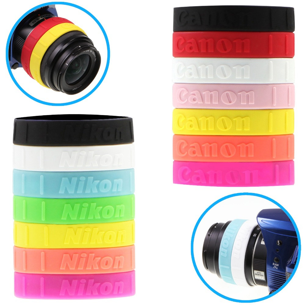 US $1 17 22% OFF Meking Colorful Silicone Follow Focus Ring for DSLR Lens  Filter Anti slip Zooming Control Rubber Band-in Camera Filters from  Consumer