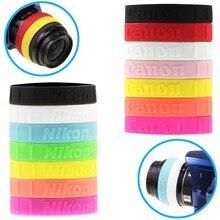 Meking renkli silikon takip odak halkası DSLR Lens filtresi Anti kayma yakınlaştırma kontrolü lastik bant