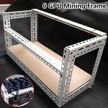 70cm*35cm*35cm 6 GPU Open Air Aluminum Mining Miner Frame Rig Case Crypto Coin DIY Stackable Rig Bitcoin