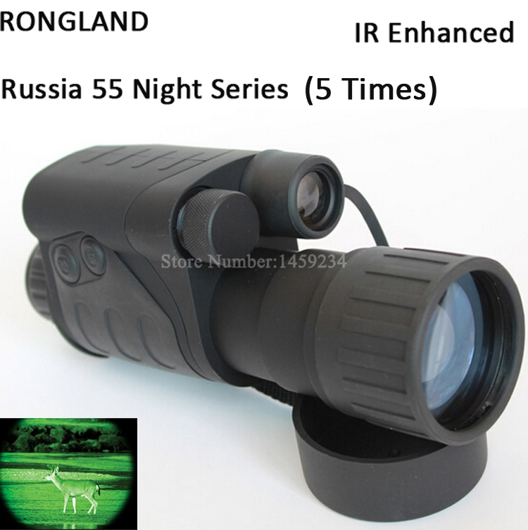 Gen1 full dark night vision sight 5X50 monocular infrared night vision goggles telescope for hunting scope free shipping