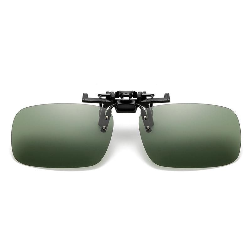Fishing Use Sunglasses Eyewear Clip On Style Sunglasses UV400 Polarized Fishing Riding&Hiking Eyewear Day/Night Vision Glasses