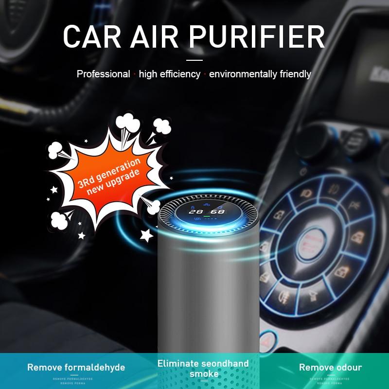 GIAHOL purificateur d'air avec filtre HEPA Air frais Anion voiture purificateur d'air capteur infrarouge purificateur d'air meilleur pour voiture maison bureau gris - 2