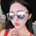 2017 Fashion Multicolour Mirror Glasses Sunglasses Women Vintage Sun Glasses Women Brand Designer Eyewear feminino UV400