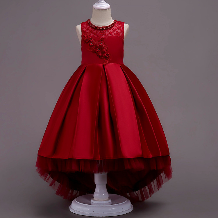 New Children's Dress Baby Girls Princess Dresses Lace Wedding Dress Kids Clothes 3-13 Years