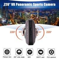 Спорт на открытом воздухе Камера 360 панорамный VR видео Регистраторы Мини Wi Fi Action Sports DV Двусторонняя рыбы Средства ухода для век объектив тяж
