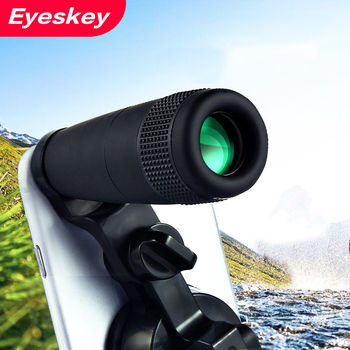 Eyeskey 8x Telescope Zoom Mobile Phone Lens Portable Mini Wide Angle Eyepiece Lens with Universal Bracket Connect to Phone