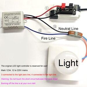 Image 5 - Qiachip 1/2/3 vias relé ac 220v rf remoto digital sem fio interruptor de controle remoto ventilador teto painel interruptor de controle para lâmpada